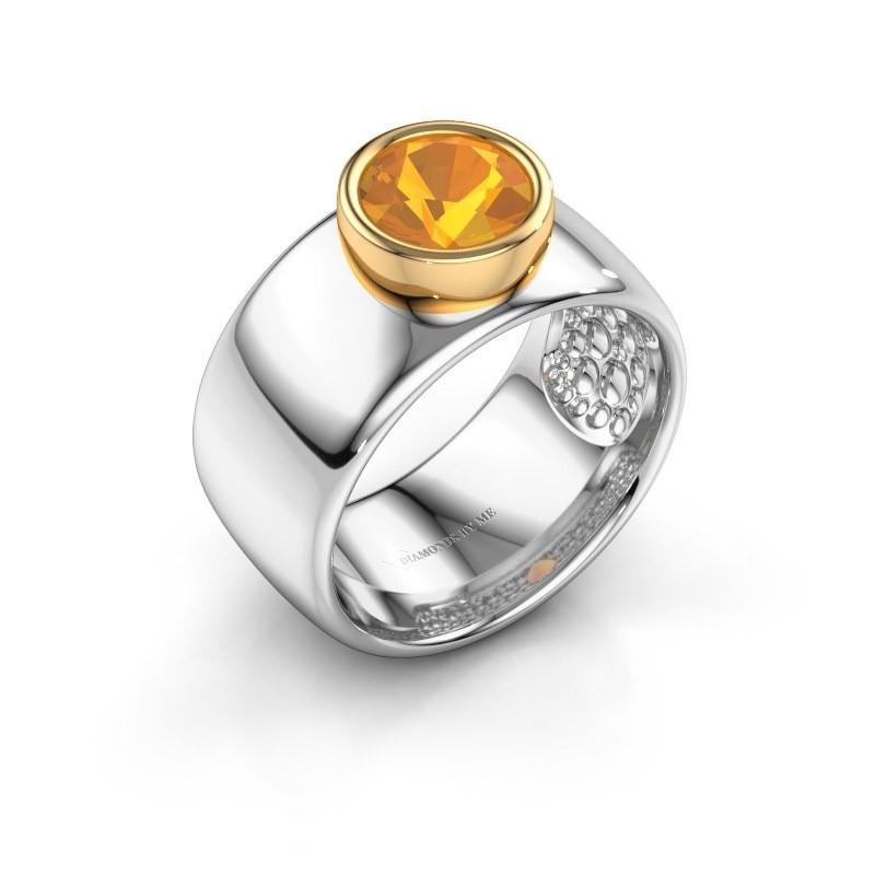 Ring Klarinda 585 witgoud citrien 7 mm