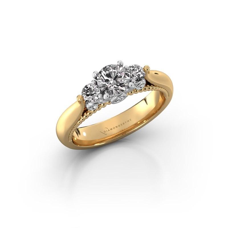 Verlovingsring Tiffani 585 goud zirkonia 5 mm