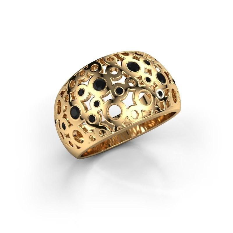 Ring Jaylinn 2 375 goud zwarte diamant 0.324 crt