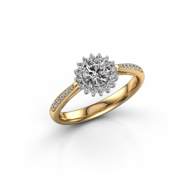 Engagement ring Tilly RND 2 585 gold diamond 0.50 crt