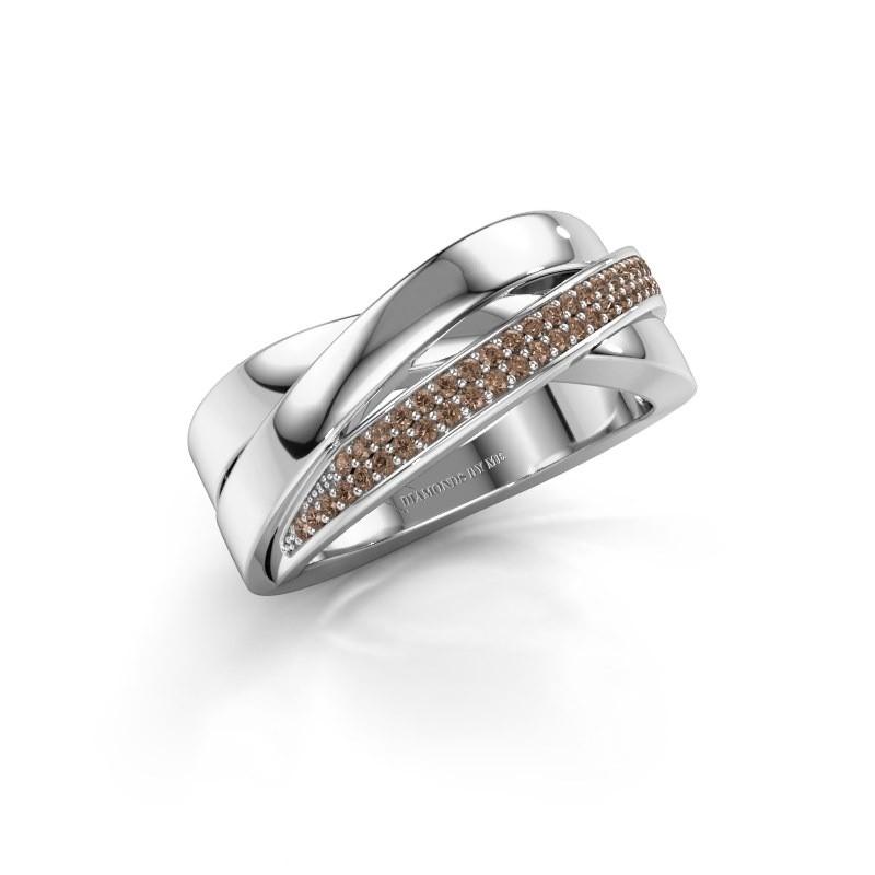 Ring Katherina 585 Weißgold Braun Diamant 0.255 crt
