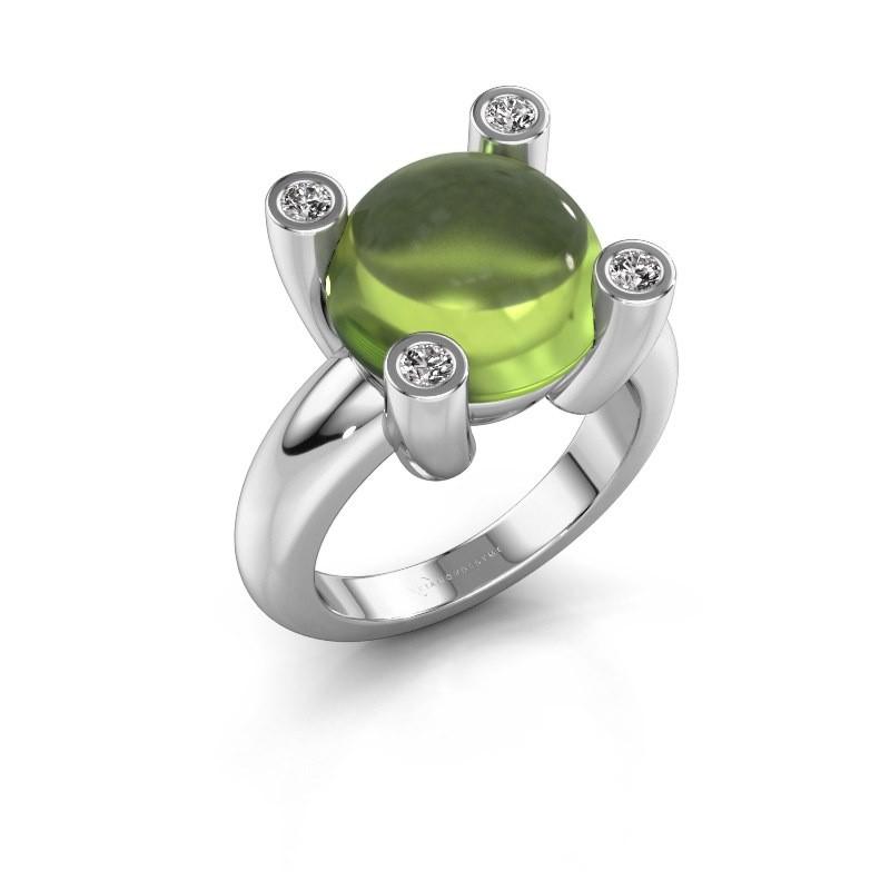 Ring Janice RND 925 zilver peridoot 12 mm