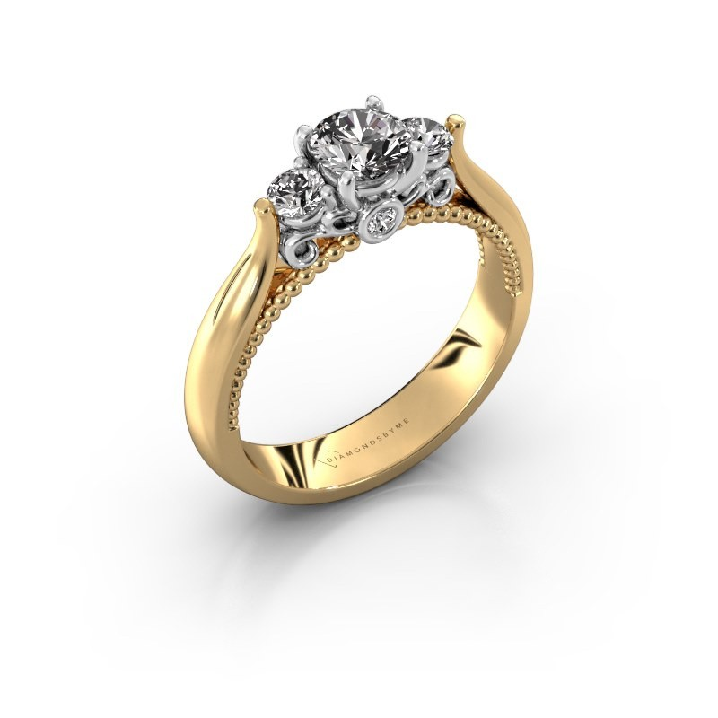 Verlovingsring Tiffani 585 goud diamant 0.74 crt