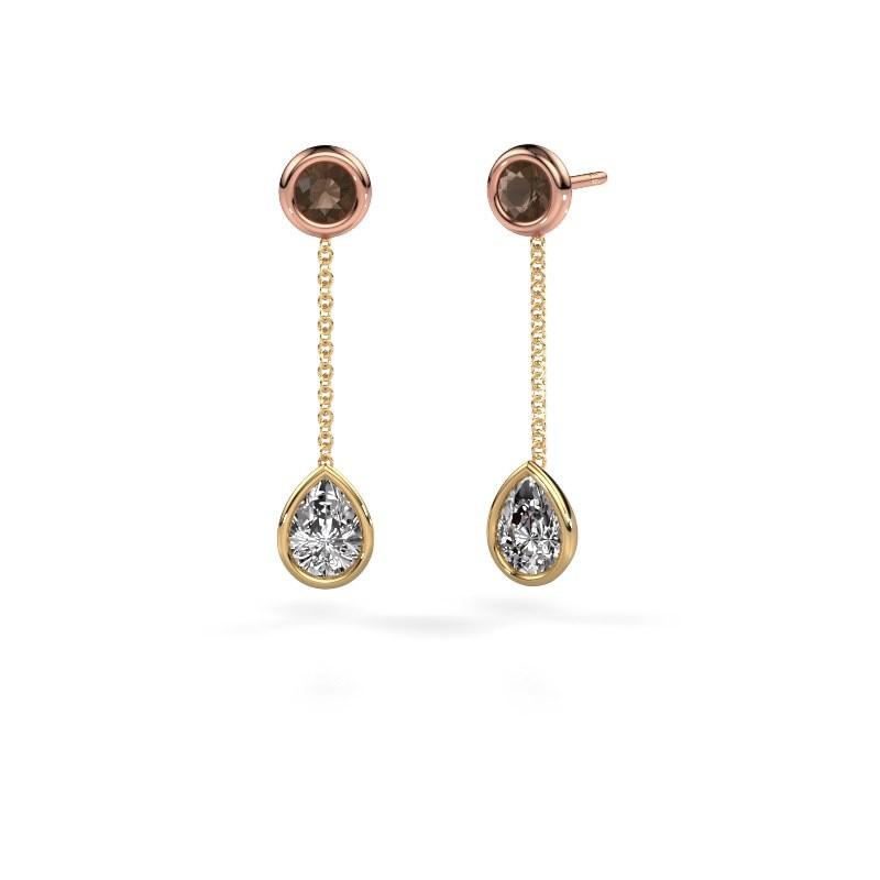 Oorhangers Ladawn 585 goud diamant 0.65 crt