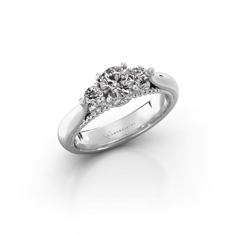 Verlovingsring Tiffani 585 witgoud lab-grown diamant 0.74 crt