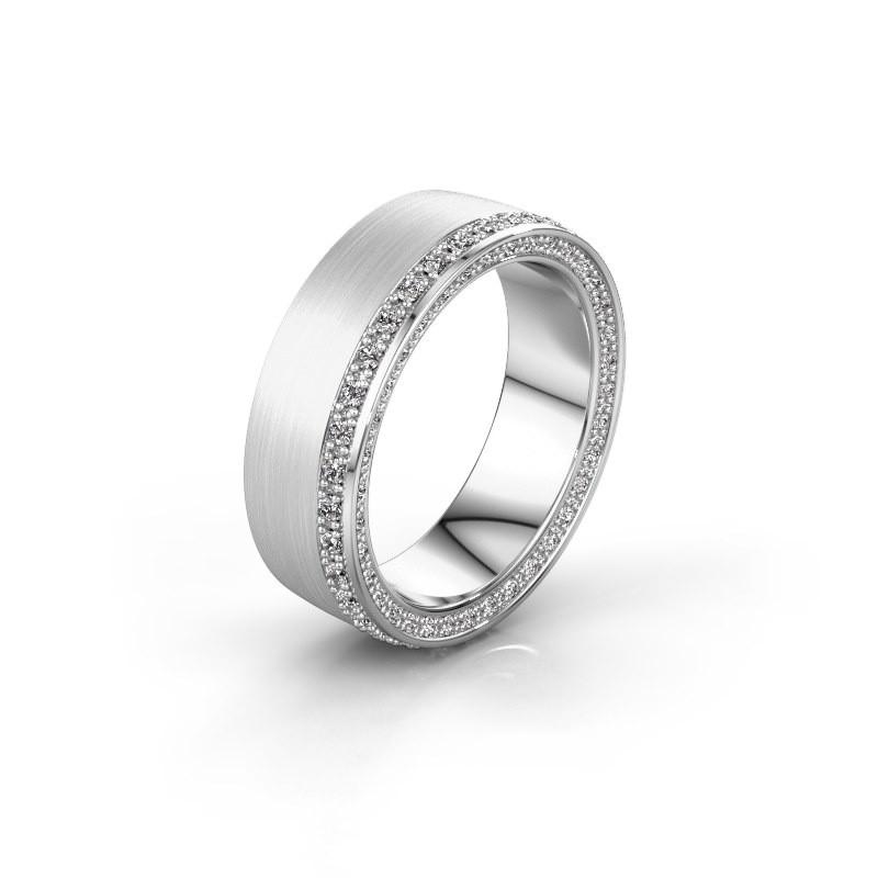 Trouwring WH2224L26C8 925 zilver diamant 0.54 crt ±6x2.2 mm