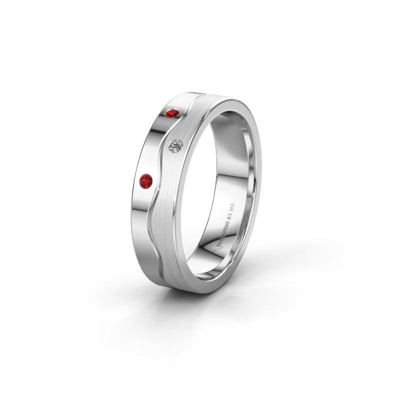 Ehering WH0701L15APM 925 Silber Rubin ±5x1.7 mm