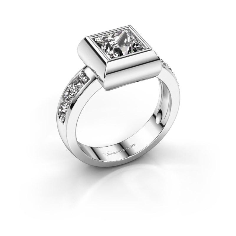 Ring Charlotte Square 925 silver diamond 1.00 crt