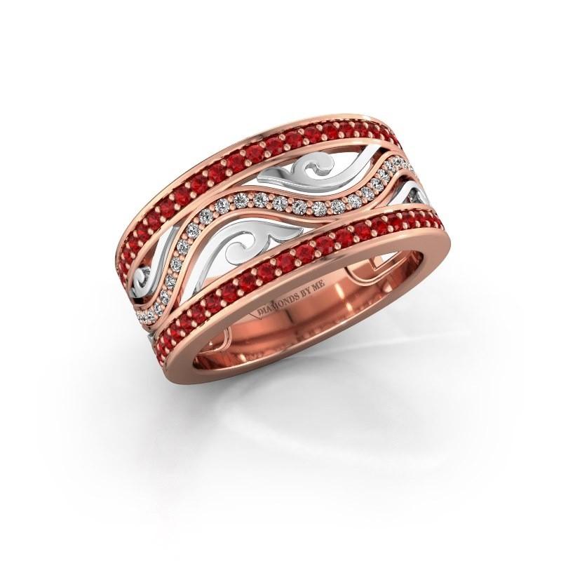 Ring Louvenia 585 rose gold ruby 1.2 mm