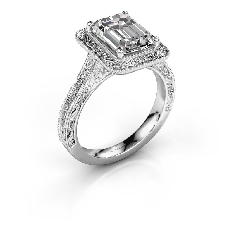 Verlovings ring Alice EME 585 witgoud diamant 2.605 crt