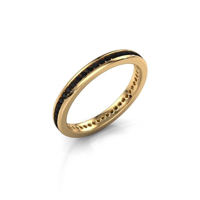 Aanschuifring Lura 1 375 goud zwarte diamant 0.588 crt