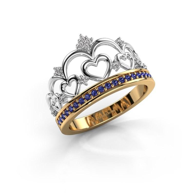 Ring Kroon 2 585 goud saffier 1.2 mm