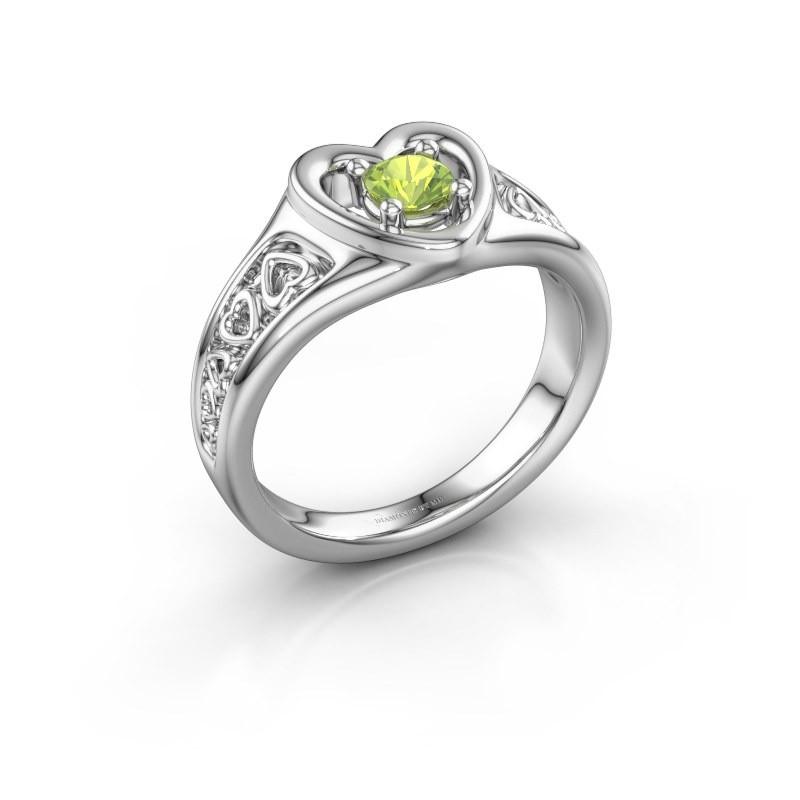 Ring Eura 925 zilver peridoot 4 mm