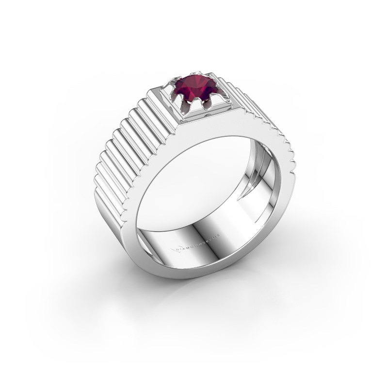 Pink ring Elias 585 witgoud rhodoliet 5 mm