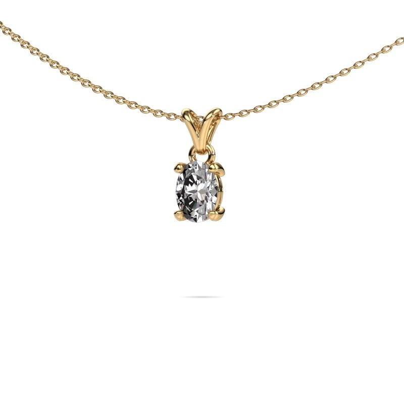 Ketting Lucy 1 375 goud lab-grown diamant 0.80 crt