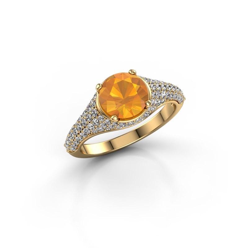 Verlobungsring Lovella 375 Gold Citrin 7 mm