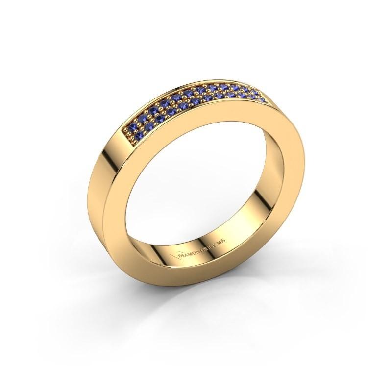 Aanschuifring Catharina 1 375 goud saffier 1.1 mm