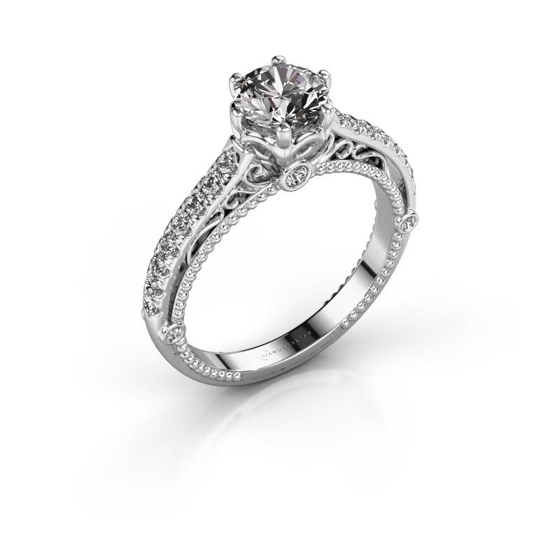 Engagement ring Venita 585 white gold diamond 1.345 crt