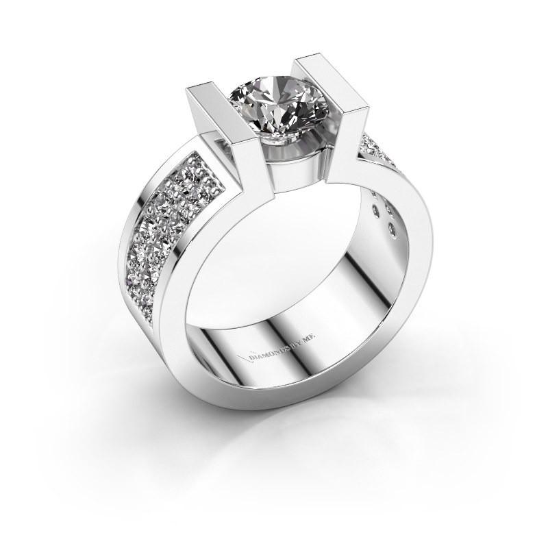 Verlovingsring Lieve 3 925 zilver diamant 1.00 crt
