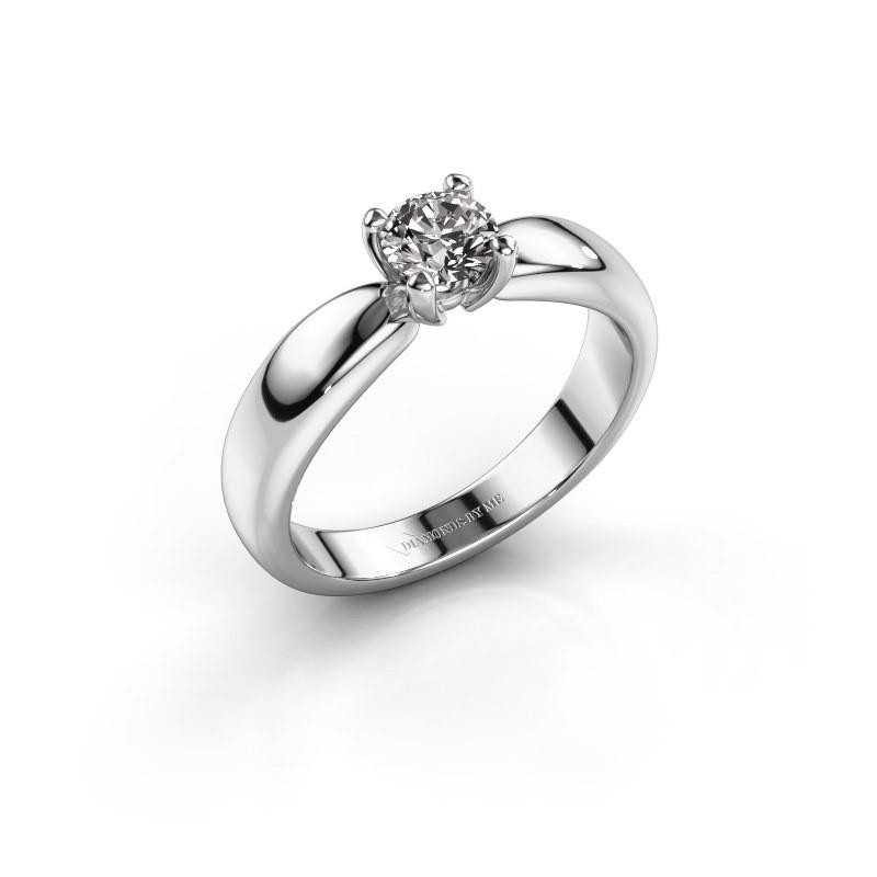 Promise ring Katrijn 585 witgoud diamant 0.50 crt
