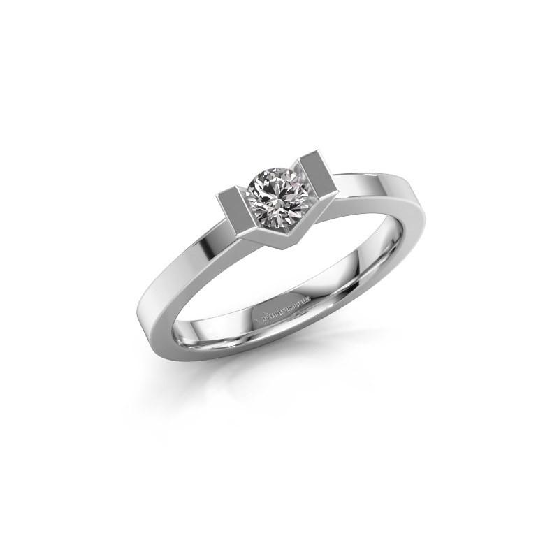 Bague de fiançailles Sherley 1 585 or blanc diamant 0.30 crt