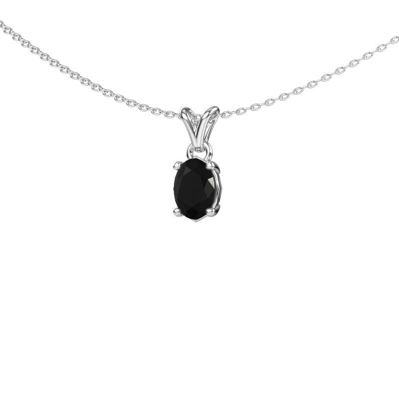 Ketting Lucy 1 925 zilver zwarte diamant 0.96 crt
