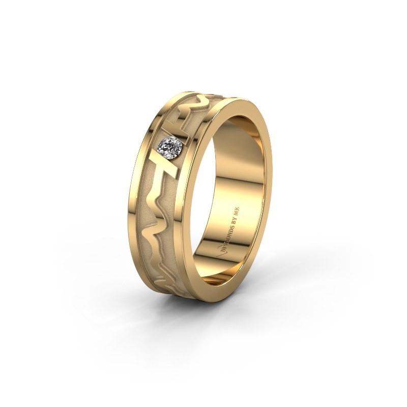 Trouwring Heartbeat 3 585 goud ±6x1.8 mm