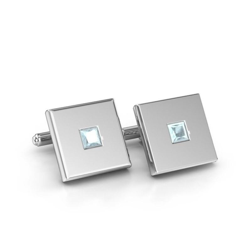 Cufflinks Givanti 925 silver aquamarine 4 mm