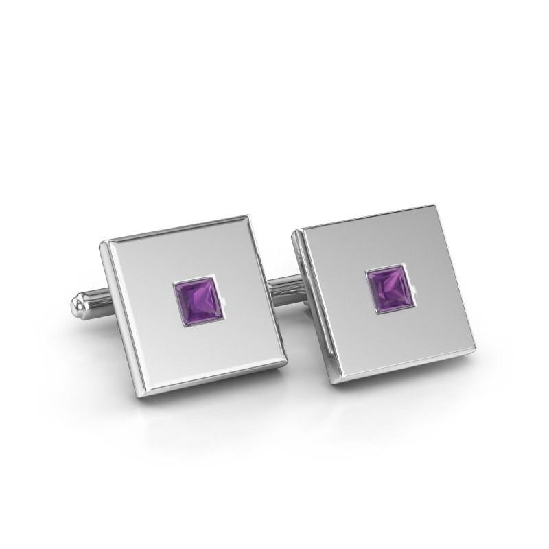 Cufflinks Givanti 925 silver amethyst 4 mm