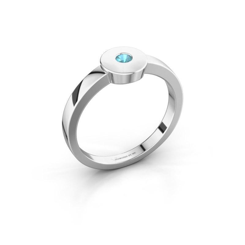 Ring Elisa 950 platinum blue topaz 3 mm