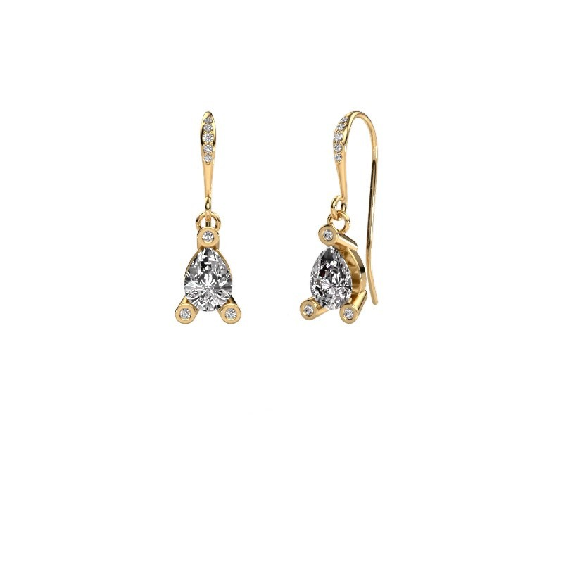 Drop earrings Bunny 2 585 gold diamond 1.375 crt