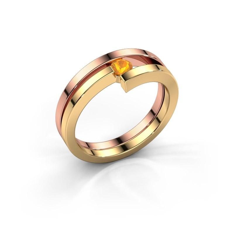 Ring Nikia 585 rosé goud citrien 3.4 mm