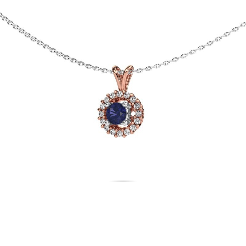 Pendant Tennille 585 rose gold sapphire 4 mm