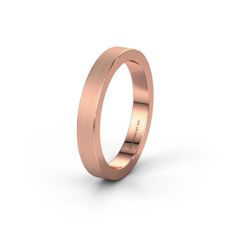 Wedding ring WH2140M15B 375 rose gold ±4x2 mm