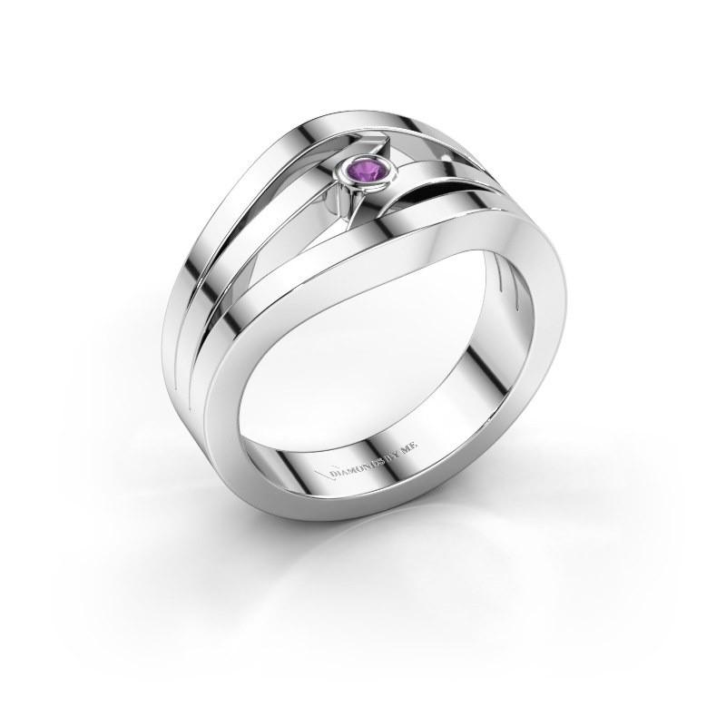 Ring Carlijn 925 Silber Amethyst 2 mm
