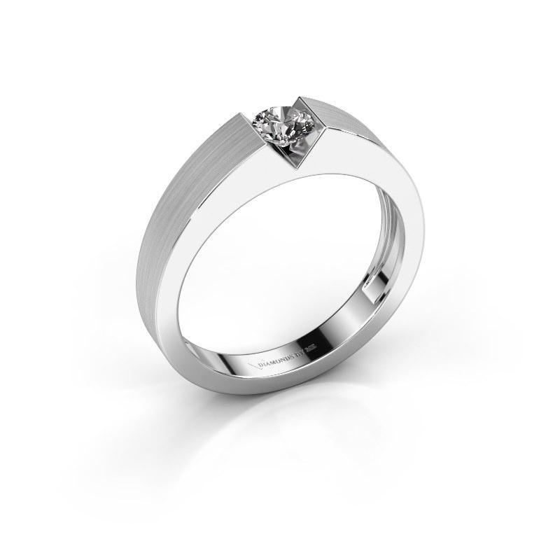Verlovingsring Lizzy 1 585 witgoud diamant 0.25 crt