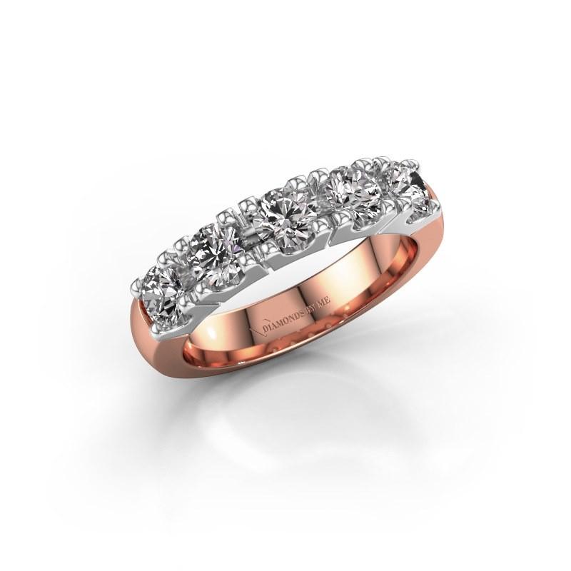 Engagement ring Rianne 5 585 rose gold diamond 1.25 crt