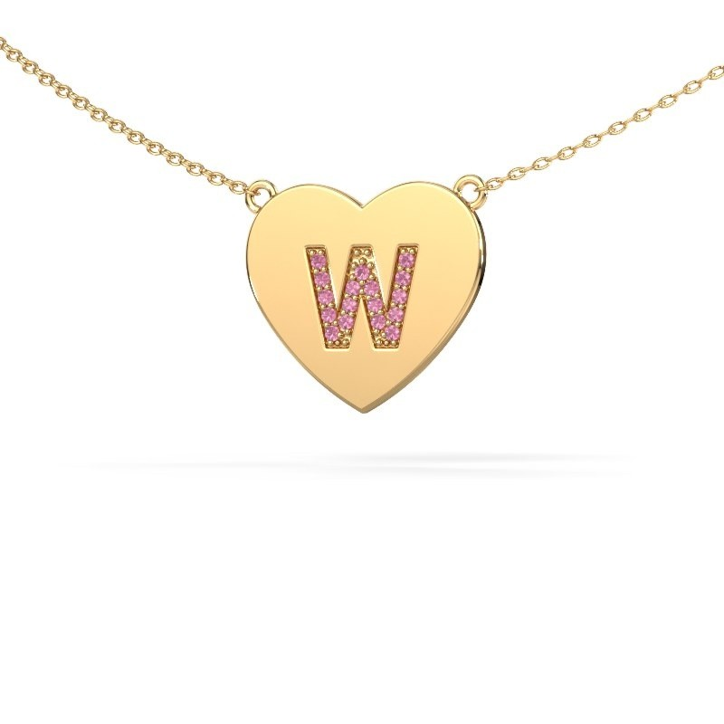 Letter hanger Initial Heart 585 goud