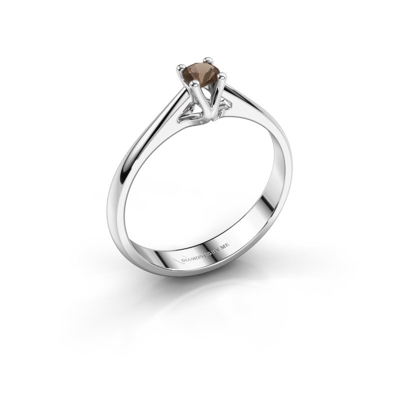Engagement ring Janna 1 925 silver smokey quartz 3.4 mm