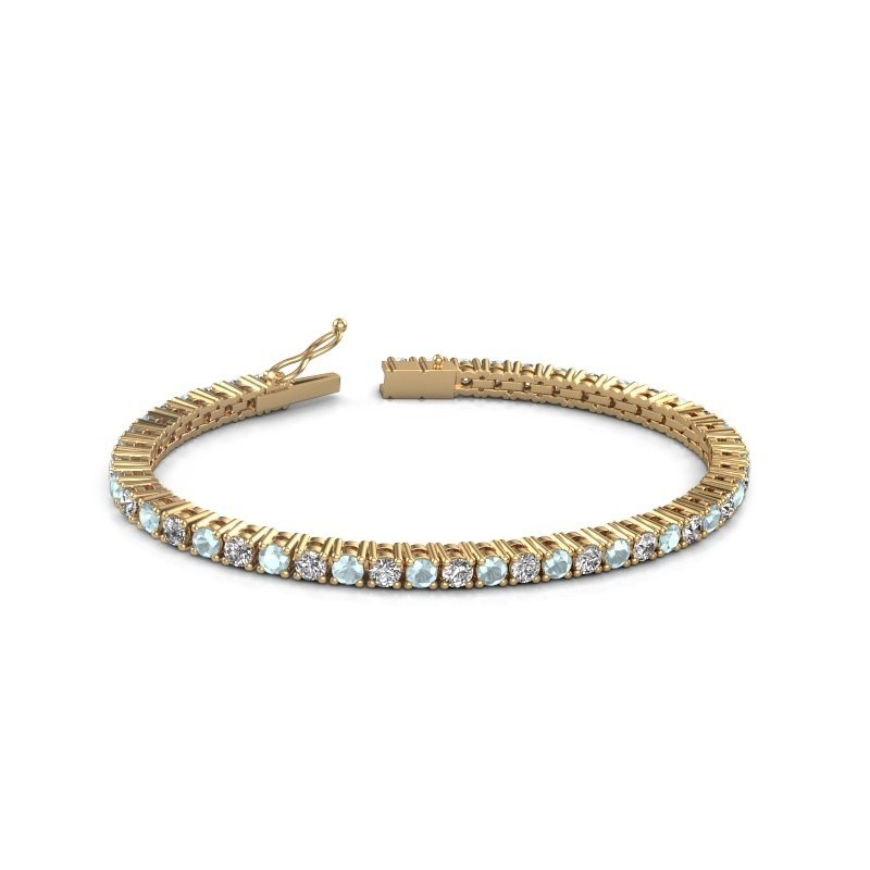 Tennisarmband Jenny 375 goud zirkonia 3.5 mm