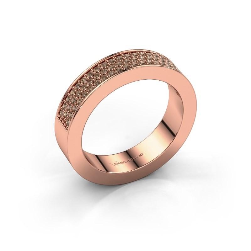 Ring Lindsey 2 375 rose gold brown diamond 0.436 crt