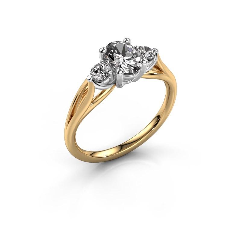 Verlovingsring Amie OVL 585 goud zirkonia 7x5 mm