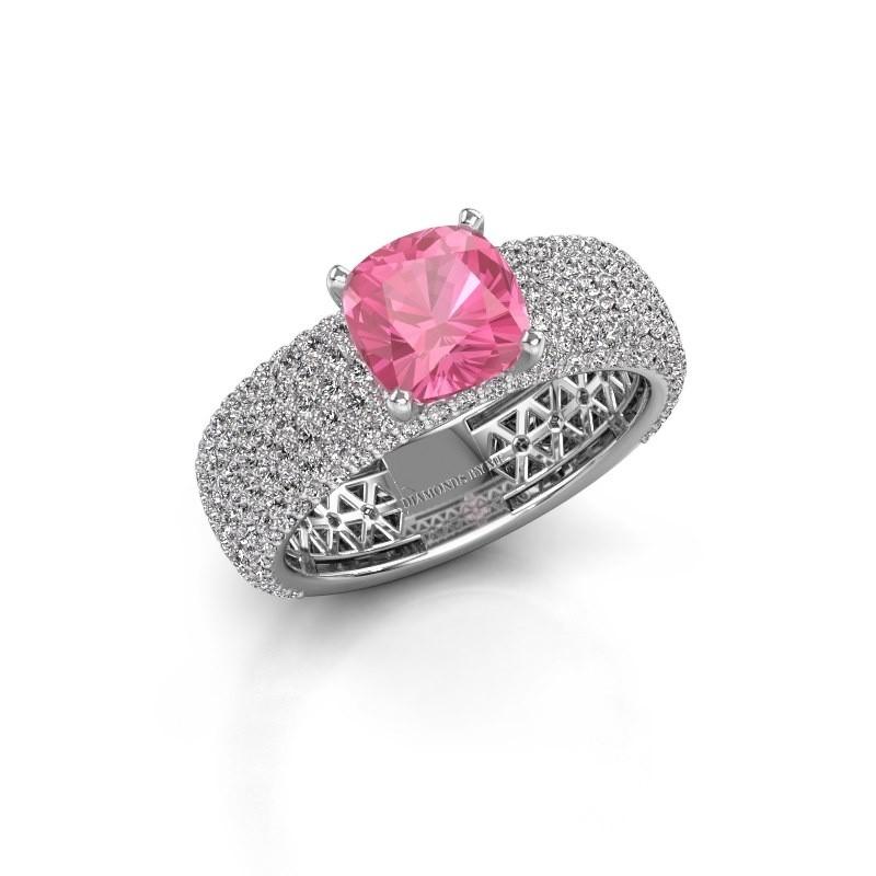 Engagement ring Darcy 950 platinum pink sapphire 7 mm