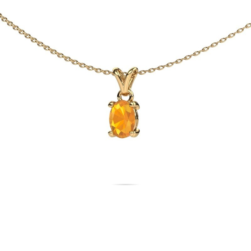 Ketting Lucy 1 375 goud citrien 7x5 mm
