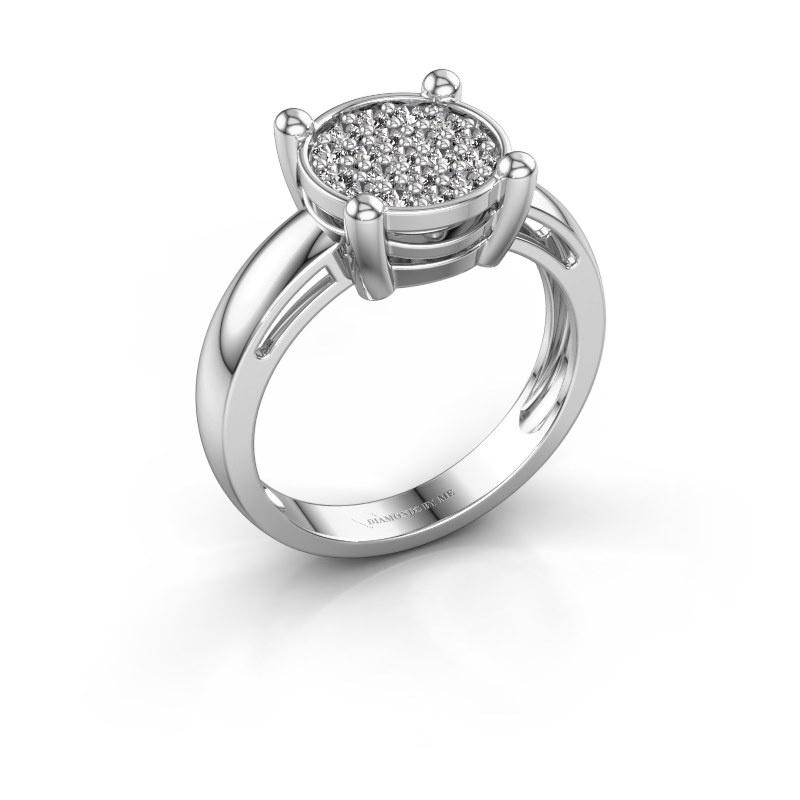 Ring Dina 585 white gold zirconia 1.6 mm
