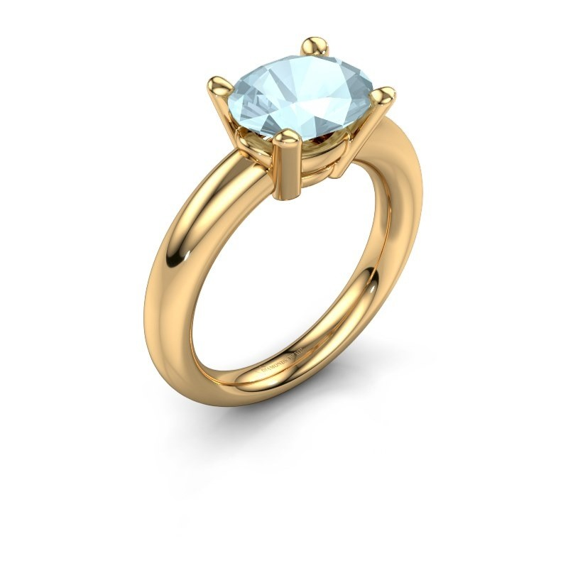 Ring Janiece 585 goud aquamarijn 10x8 mm