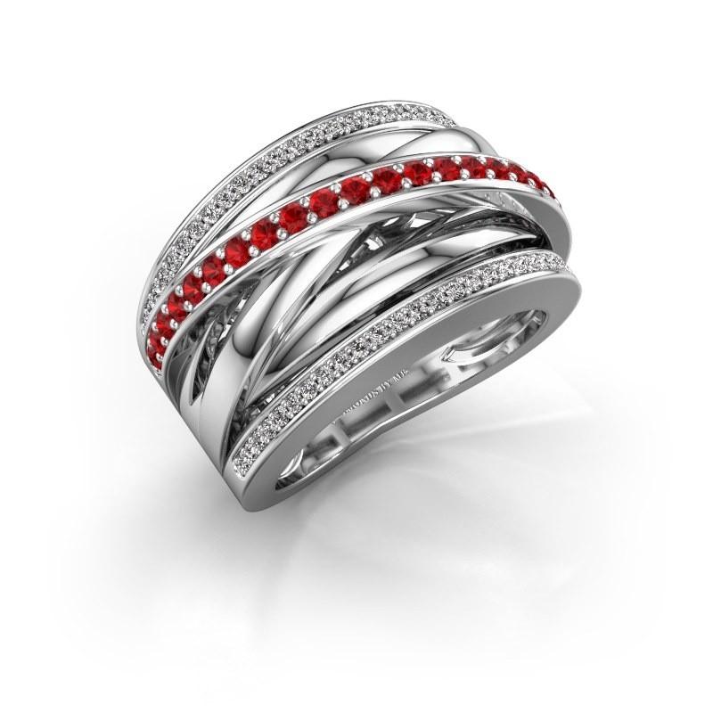 Ring Clair 2 950 Platin Rubin 1.5 mm