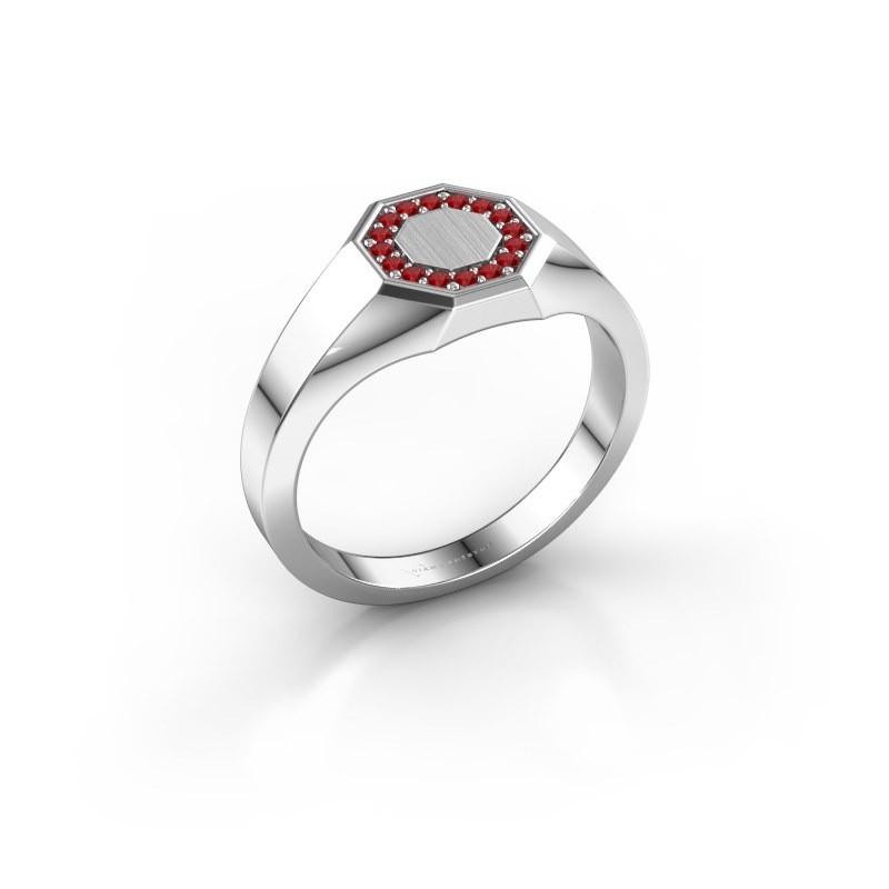 Pinky ring Floris Octa 1 925 silver ruby 1.2 mm