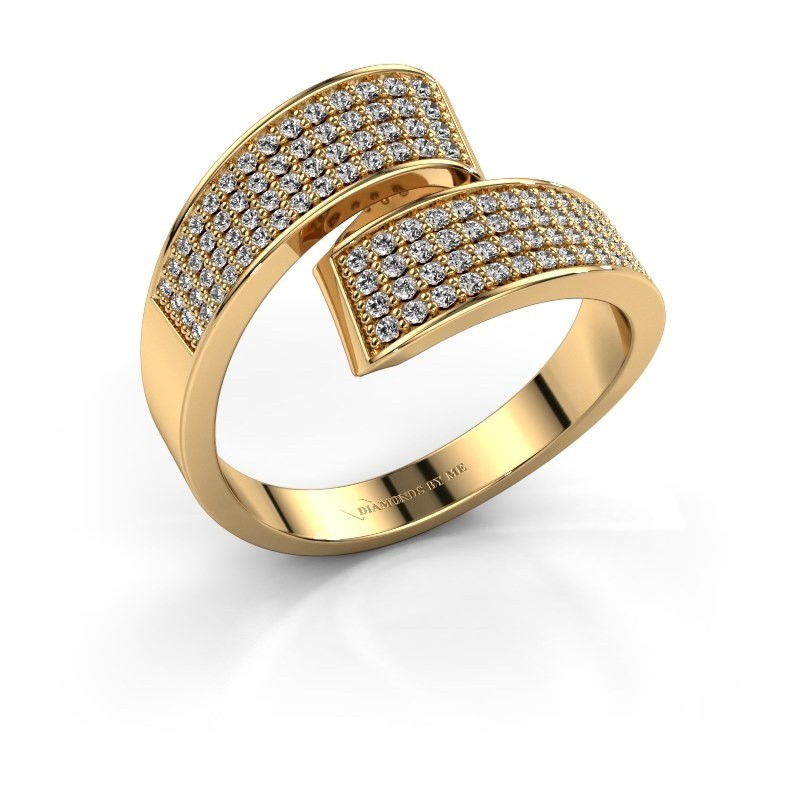 Ring Athena 375 goud zirkonia 1 mm