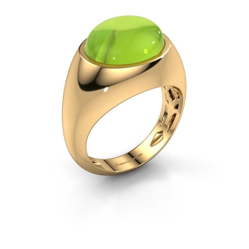 Ring Laurien 585 goud peridoot 12x10 mm
